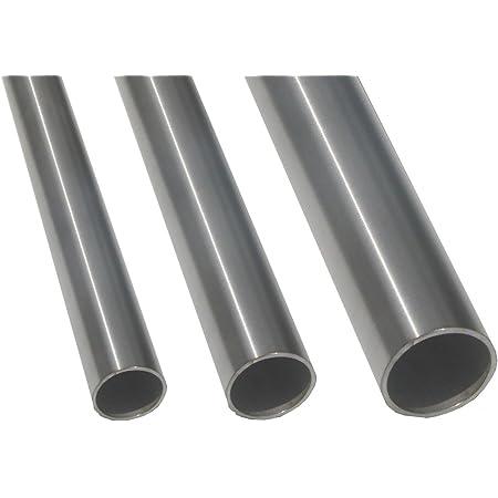 L/änge 1200mm K240 Edelstahl Rundrohr V2A /Ø 50x1,5mm 120cm auf Zuschnitt