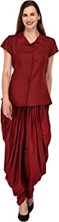Patrorna Blended Women's Cap Sleeve Shirt Tops and Dhoti Pant Suits Set (Size XS-7XL, GR604810)
