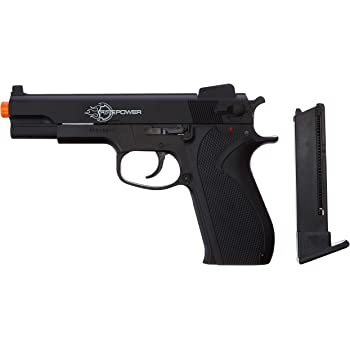 Firepower .45 Metal Slide Spring Powered Airsoft Pistol with Hop-Up, 325 FPS