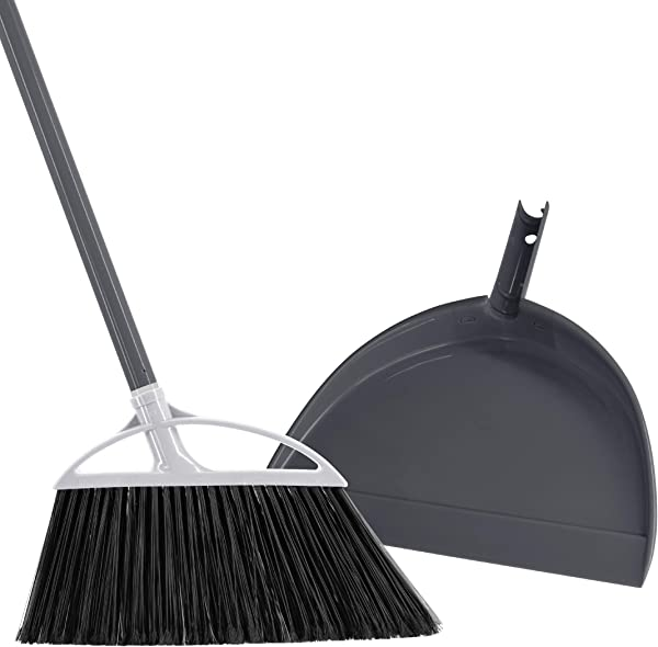 Radley Stowe Angle Broom With Dustpan Grey