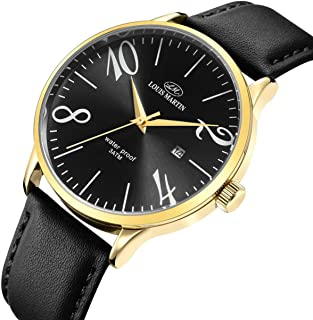Louis Martin Dress Watch For Unisex Analog Leather - LM2086