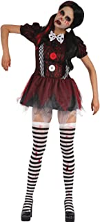 Ladies Dead Rag Doll Creepy Clown Halloween Horror Scary Fancy Dress Costume Outfit UK 10-14