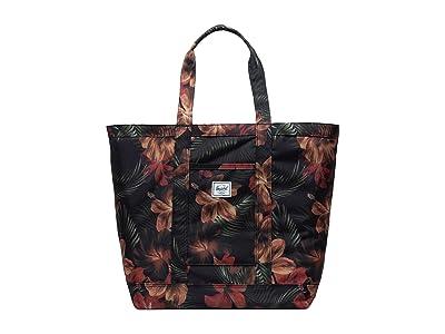 Herschel Supply Co. Bamfield Mid-Volume (Tropical Hibiscus) Tote Handbags