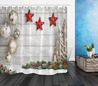 Best elegant christmas shower curtain Reviews
