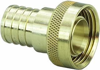 Viega 46414 PureFlow Zero Lead Brass PEX Crimp Supply Adapter with 3/4-Inch by 1 Crimp x Manabloc Supply