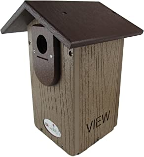 JCs Wildlife Brown Recycled Ultimate Bluebird House w/Brown Roof