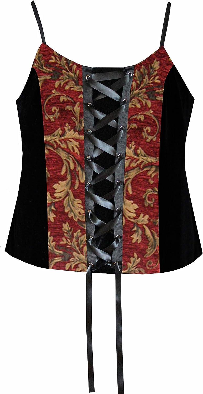 Cykxtees Victorian Steampunk Gothic Renaissance Women's Laced Camisole Top