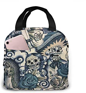 Reusable Lunch Bag Frida Kahlo Fabulous lunch Tote box Food Insulated Bags for Women,Teens,Girls,Kids,Baby,Adults