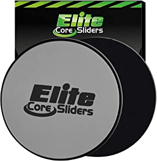 Elite Sportz Exercise Sliders are Double Sided and Work Smoothly on Any Surface. Wide Variety of Low Impact Exercise's You Can Do. Full Body Workout, Compact for Travel or Home Ab Workout