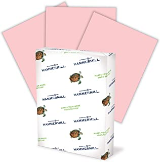 Hammermill 103382 Recycled Colored Paper, 20lb, 8-1/2 x 11, Pink, 500 Sheets/Ream