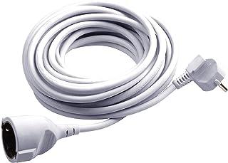 Meister Schutzkontakt-Verlängerung - 2 m Kabel - weiß - Kunststoffleitung - IP20 Innenbereich / Kupplung mit Berührungsschutz / Schuko-Verlängerung / 7432210