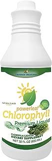 Chlorophyll Powerleaf Premium Liquid NO Mint 32 oz - 100% Liquid Extract - Clorofila Liquida (No Mint)