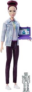 (Burgundy Hair) - Barbie FRM12 Robotics Engineer Doll, Multi-Colour