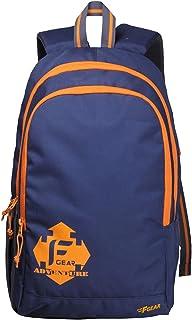 F Gear Castle 24 Ltrs Navy Blue Orange Casual Backpack (2181)