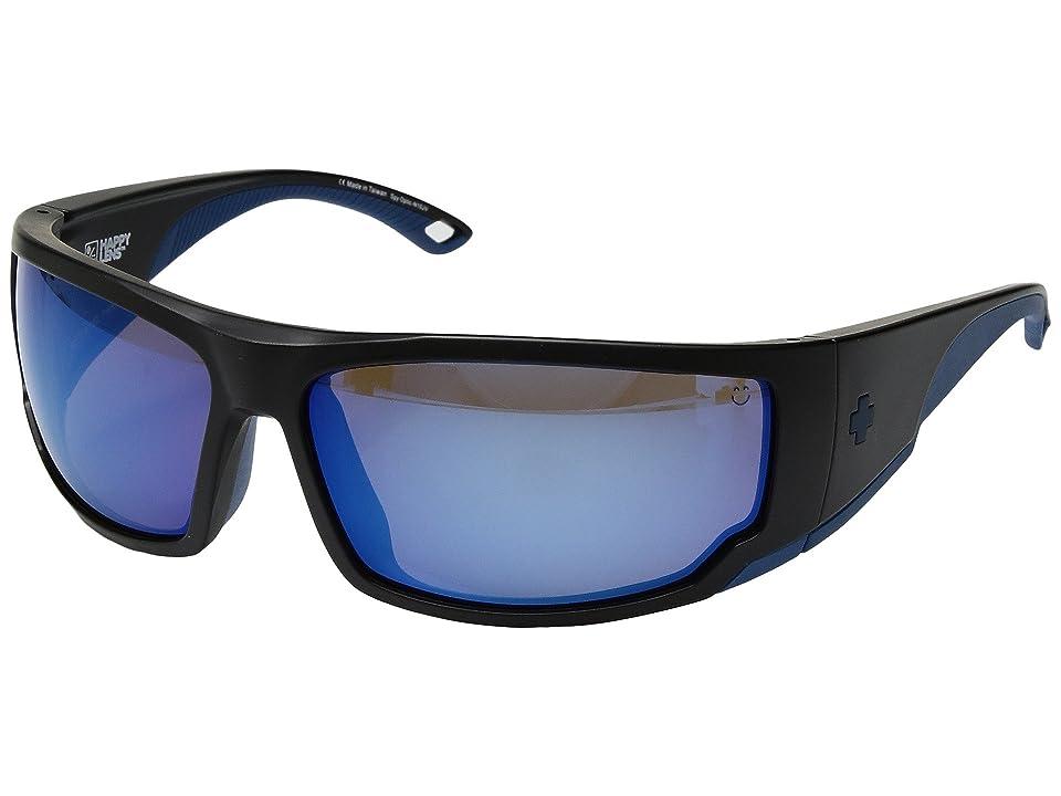 Spy Optic Tackle (Matte Navy/Happy Bronze Polar/Dark Blue Spectra) Athletic Performance Sport Sunglasses