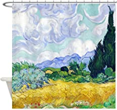 CafePress Van Gogh Wheat Field Cypresses Decorative Fabric Shower Curtain (69