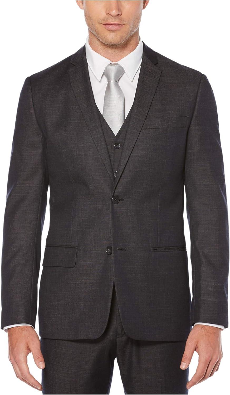 Perry Ellis Mens Chambray Two Button Blazer Jacket