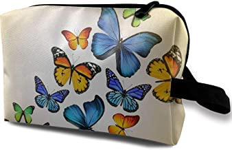 Women's Cute Butterfly Funny Pattern Travel Hanging Toiletry Bag Portable Travel Kit Shaving Bathroom Storage Bag Waterproof Cosmetic Organize