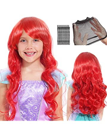 1PC ni/ños postizo princesa Elsa peluca larga de Cosplay de la peluca trenzada de Hairband de Vestir Accesorios Trenzado Para Ni/ños Chicas azul