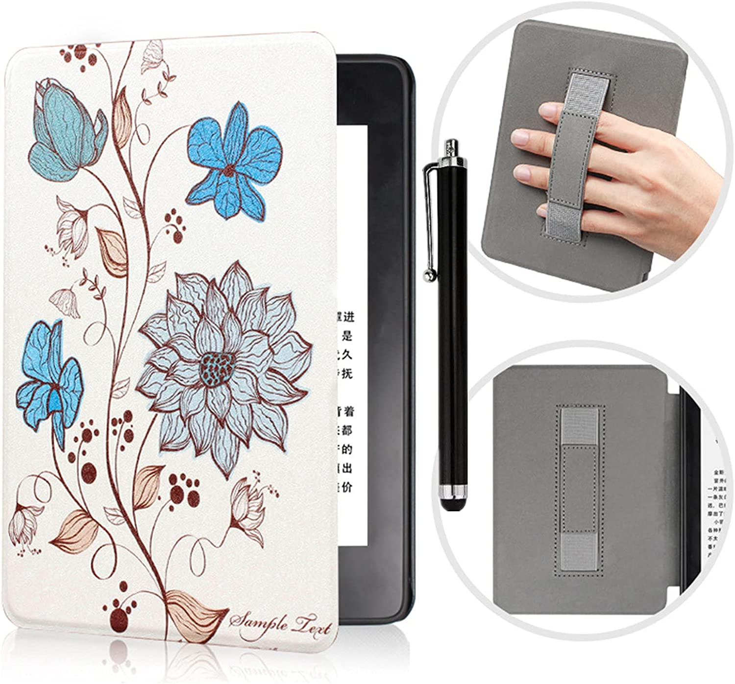 Kindle Super special price Paperwhite Case Ranking TOP3 with Hand Strap PU L - Ultra Durable Thin