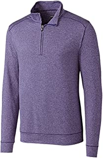 Cutter & Buck Men's Soft, Performance, Subtle Stripe Shoreline Half-Zip Pullover