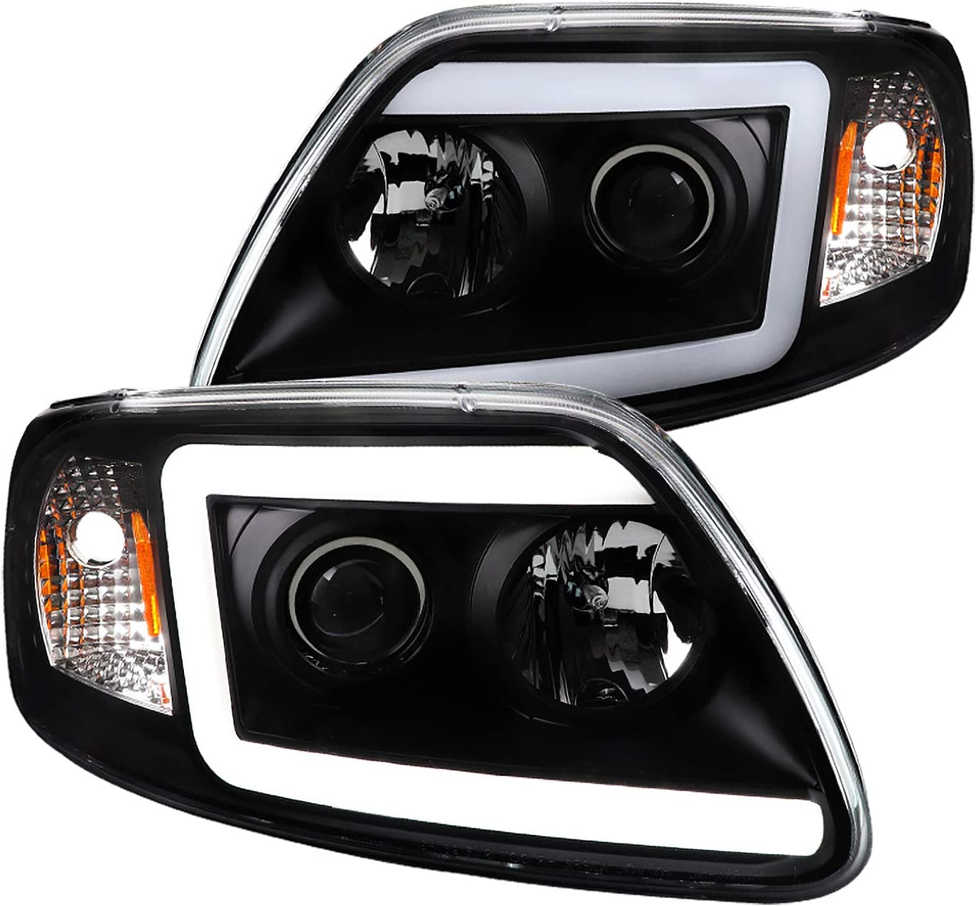 Spec-D Tuning Cheap super special price LED Light Bar Black Clear Housing H Projector Lens Sale