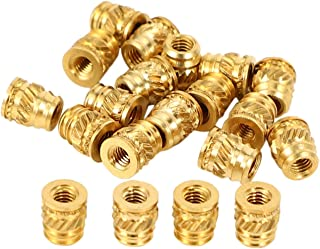 SNOWINSPRING 20Pcs/Set M3 3mm M3-0.5 Copper Threaded Metal Heat Set Screw Inserts for 3D Printing Long Tool Parts