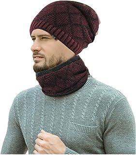 UKURO Winter Warm Women Skullies Peaked Solid Knitted Pom Pom Hats Fleece Wool Soft Newsboy Caps Beanies
