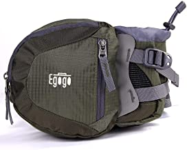 EGOGO Travel Sport Waist Pack Fanny Pack Bum Bag Hiking Bag with Water Bottle Holder S2209 (Army Green)