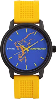 Sonata Chennai Super Kings Limited Edition Analog Blue Dial Men's Watch-77085PP05