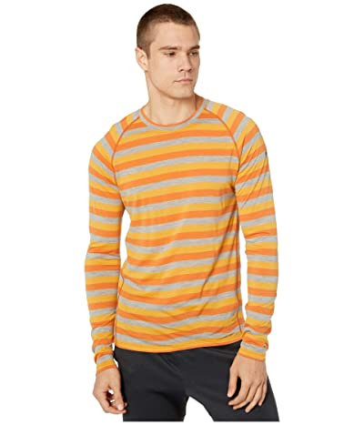 Smartwool Merino 150 Baselayer Long Sleeve (Atomic Orange Stripe) Men
