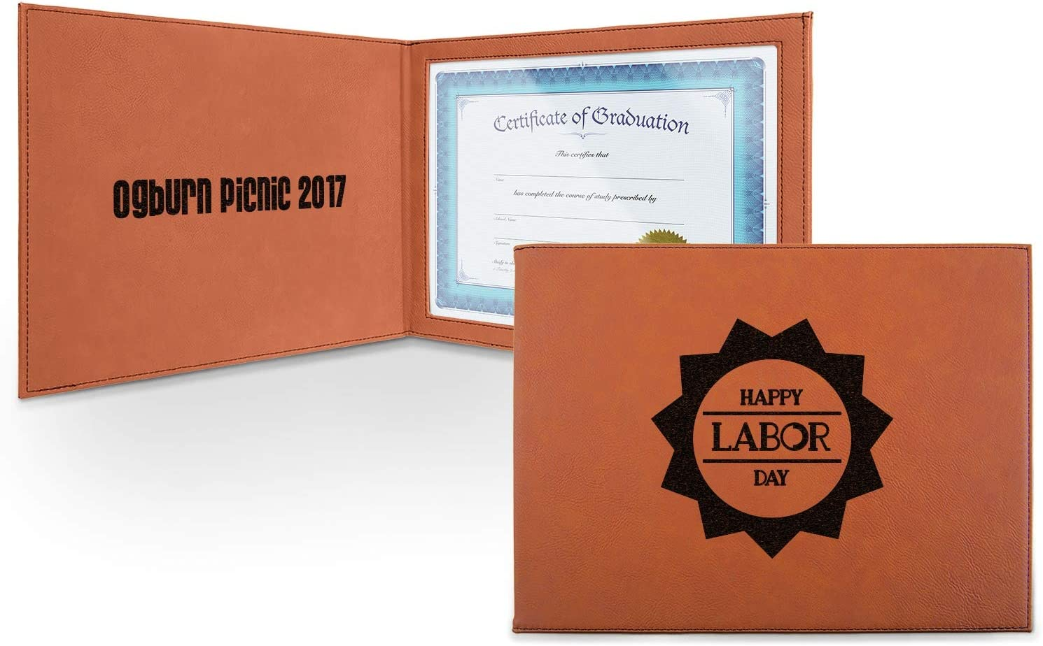 Labor Day Fixed price for sale Leatherette Certificate Holder Front Per Inside and - Max 73% OFF