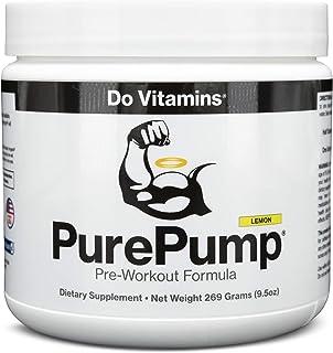 PurePump Lemon - Natural Pre Workout Supplement for Men & Women, Cleanest Pre-Workout Powder Fitness Supplements Certified...