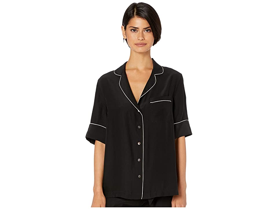 KIKI DE MONTPARNASSE Amour PJ Top Short Sleeve (Black/Nude) Women