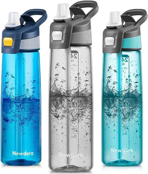 Borraccia sportiva senza bpa 750ml/24oz, bottiglia acqua a prova di perdite con una spazzola per la pulizia B07ZGCNQZ3