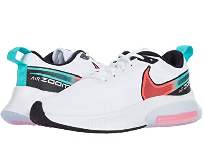 Nike Kids Air Zoom Arcadia (Big Kid) (White/Flash Crimson/Hyper Jade/Black) Kid