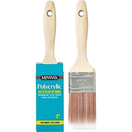 "Minwax 427310008 Polycrylic Wood Stain Brush, 1.5"", White"