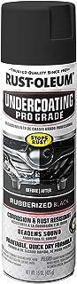 Rust-Oleum 248656 Professional Grade Rubberized Undercoating Spray, 15 oz, Black