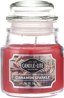 برطمان شمع معطر برائحة القرفة من كاندل لايت - 85 جرام