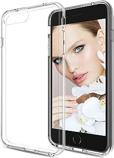 HenSun Clear Phone Case iPhone 8 Plus/iPhone 7 Plus Girls Boys, Scratch Resistant Ultra-Thin Anti-Slip TPU Bumper Protective Phone Cases Cover Women Men Fit for iPhone7 Plus iPhone8 PlusTransparent