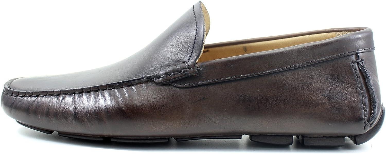 Giorgio Rea Men Classic CAR shoes Elegant Brown Slipper Mocassins Handmade shoes Made in  Genuine Real Leather Oxfords Richelieu Brogue Gentlemen