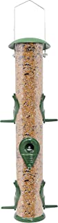 GrayBunny GB-6847M6P Classic Metal Tube Feeder, Premium Metal Outdoor Birdfeeder With Steel Perches and Steel Hanger, Solid Hard Tube, Chew-Proof and Lasts A Lifetime, Weatherproof and Water Resistant