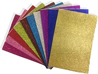 10 pieces Self-adhesive Sticky Glitter Art Foam Gum Papers school educational creative Art stationary