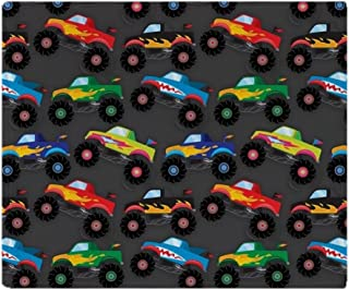 CafePress-Cool Monster Trucks Pattern, Colorful Kids Throw B-Soft Fleece Throw Blanket
