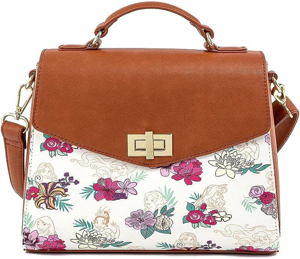 Loungefly Floral Disney Princess Crossbody Bag Standard