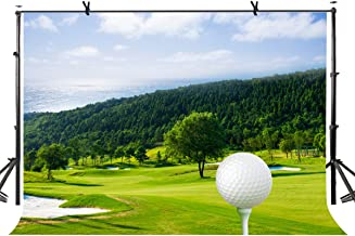 LYLYCTY 7X5ft Golf Sport Backdrop Lush Golf Course Sport Style Photography Backdrop Photo Studio Background Props LYK048