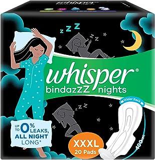 Whisper Ultra Night Sanitary Pads for Women, XXXL 20 Napkins