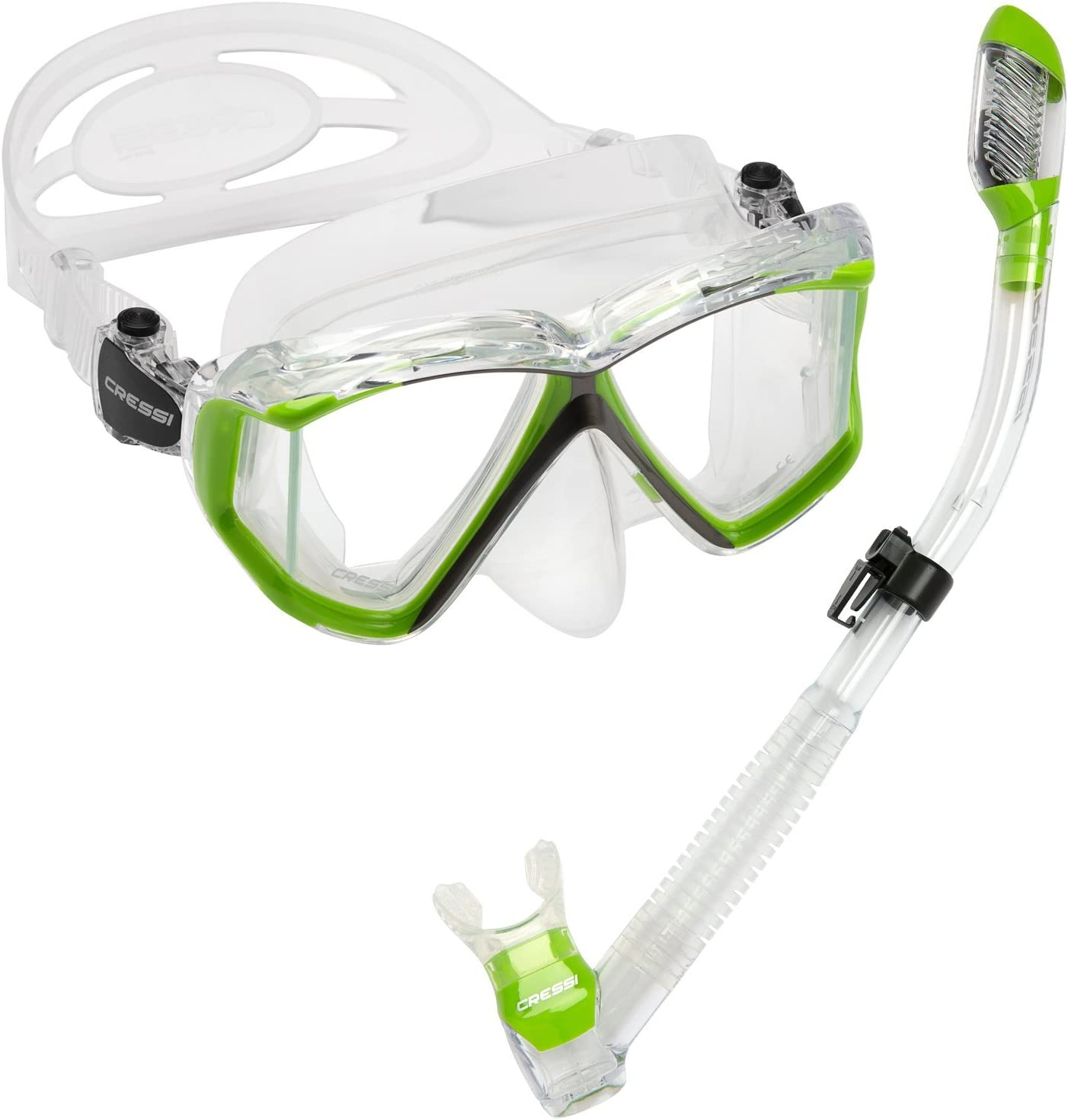 Cressi Panoramic Wide Max 63% OFF View Mask Snorkel Kit 35% OFF Dry for Snorkeling