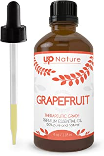 Grapefruit Essential Oil - Premium Quality - 100% Undiluted Pure & Natural Grapefruit Oil - Essential Oils for Weight Loss, Mood and Focus, Appetite Suppression, Household Cleaner. 4 oz w/Dropper
