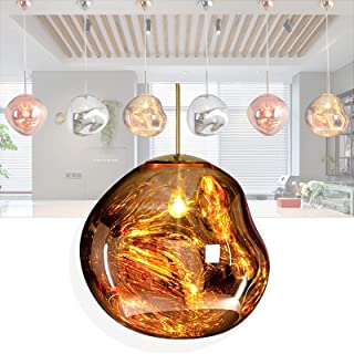 Lustre Salon Moderne, Lustre Boule Verre, Suspensions D'éclairage Intérieur, lustre led Réglable en Hauteur, luminaire Sus...